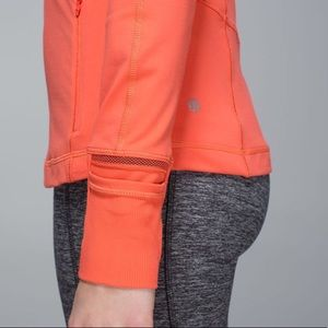 lululemon athletica Sweaters - Lululemon race with grace 1/2 zip 2 orange 10